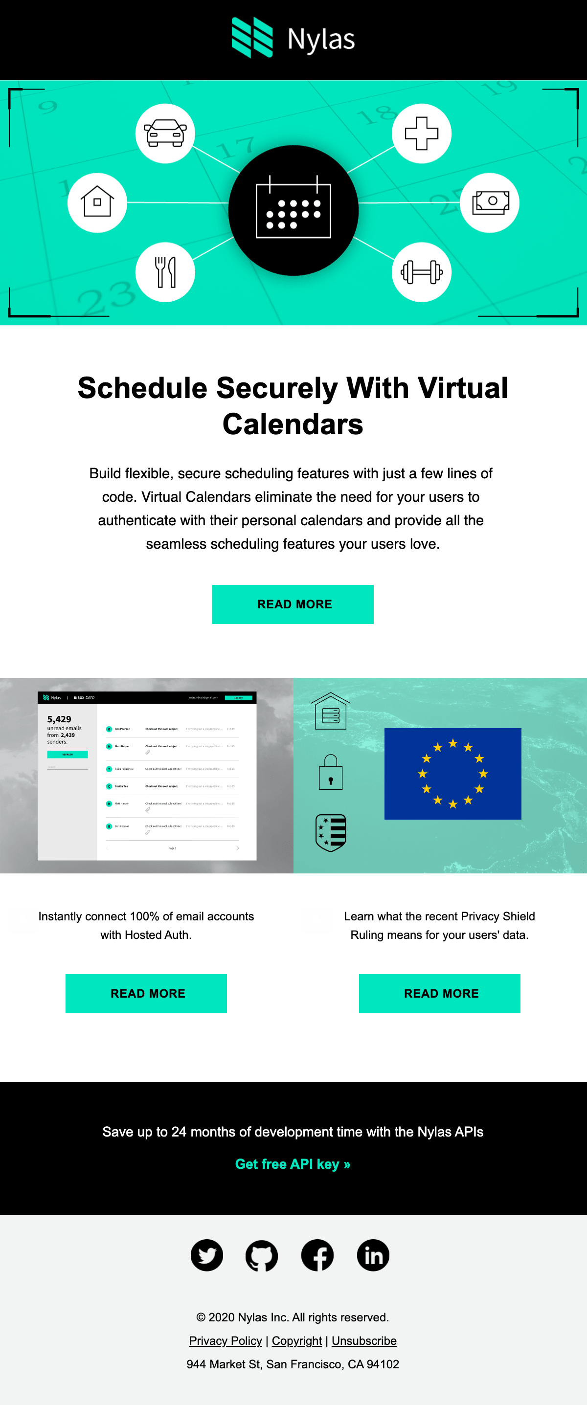 Nylas Virtual Calendar