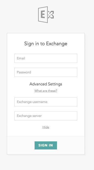 Exchange Host Enter Credentials